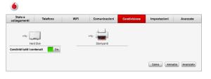 pannello di configurazione della Vodafone station 4