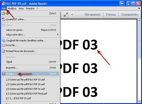 Unire pdf con pdf creator