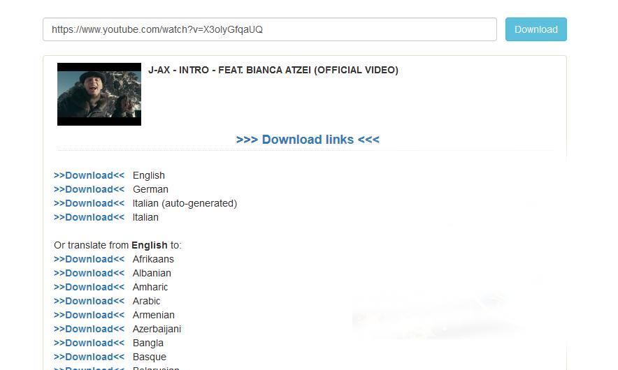 dove scaricare sottotitoli in inglese